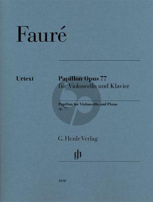 Faure Papillon Op.77 Violoncello-Piano (Jean-Christophe Monnier) (Henle-Urtext)