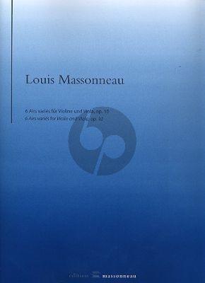 Massonneau 6 Airs variés Op.10 Violine und Viola (Part./Stimmen) (ed. Reinhard Wulfhorst)