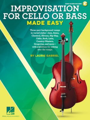 Gabriel Improvisation for Cello or Bass Made Easy (Book with Audio online)