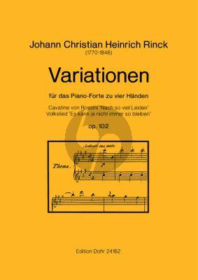 Rinck Variationen Op.102 Klavier 4 Hd. (Christoph Dohr)