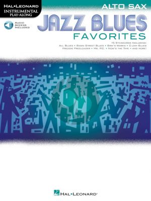 Jazz Blues Favorites Instrumental Play-Along Alto Sax (Book with Audio online)
