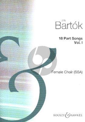 Bartok 18 Partsongs Vol.1 (Female Choir SA and SSA)
