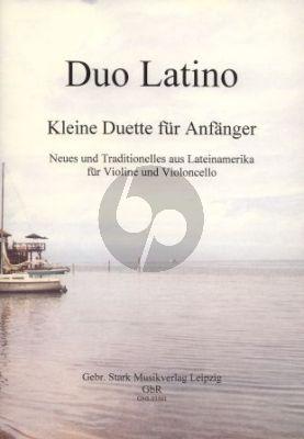 Menacho Duo Latino (Small Duets for Beginners) Violin-Violoncello (2 Scores)