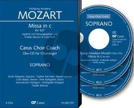 Mozart Mass c-minor KV 427 Soli-Choir-Orch. Soprano Voice 3 CD's (Carus Choir Coach)