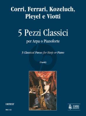 5 Pezzi Classici for Harp (or Piano) (edited by Anna Pasetti)