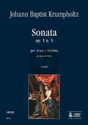 Krumpholtz Sonata Op.1 No 5 for Harp and Violin (Score/Parts) (edited by Anna Pasetti)