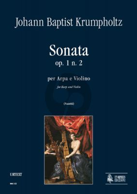 Krumpholtz Sonata Op.1 No.2 for Harp and Violin (Score/Parts) (edited by Anna Pasetti)