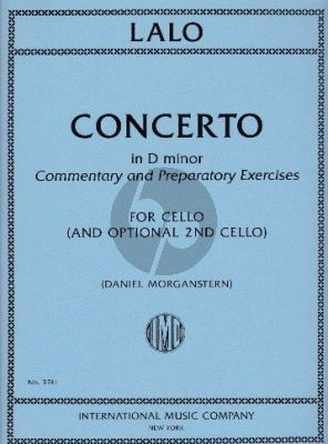 Lalo Cello Concerto d-minor Commentary and Preparatory Exercises Violoncello with 2nd Cello part