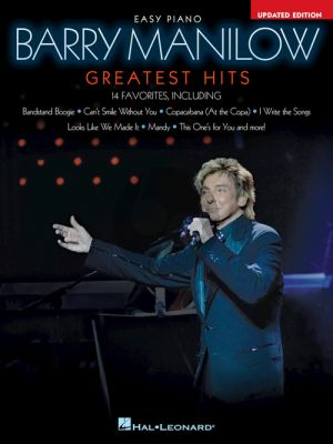 Barry Manilow – Greatest Hits Easy Piano (2nd ed.)