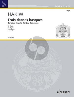 Hakim Trois danses basques Organ