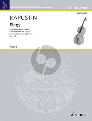 Kapustin Elegy Op.96 Violoncello-Piano