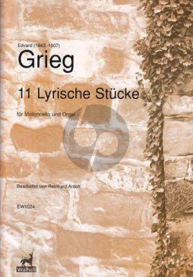 Grieg 11 Lyrische Stücke Violoncello-Orgel (arr. Reinhard Ardelt)