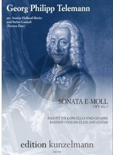 Telemann Sonata e-moll TWV 41:e5 Fagott(Violonc.)-Gitarre (transcr. Annina Holland-Moritz und Stefan Conradi)