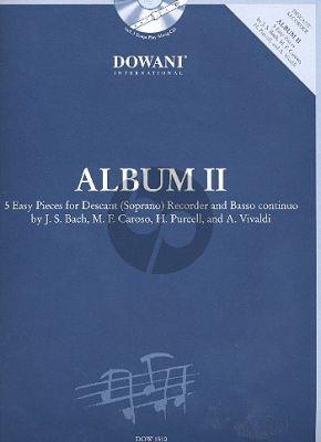 Album 2 (5 easy Pieces) Descant (Soprano) Recorder and Basso continuo)