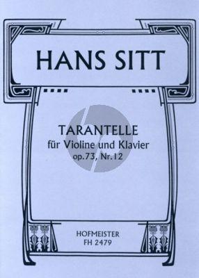 Sitt Tarentelle Op.73 No.12 Violine-Klavier (Hertel)