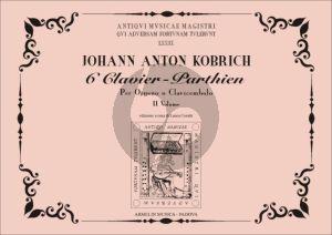Kobrich 6 Clavier - Parthien Vol.2 Organ(Harpsichord) (edited by Laura Cerutti)