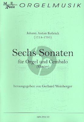 Kobrich 6 Sonaten für Orgel (Klavier/Cembalo) (Gerhard Weinberger)