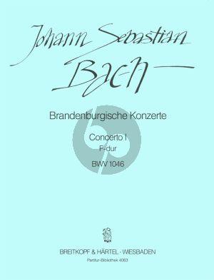 Brandburgische Konzert No.1 F-dur BWV 1046 Partitur