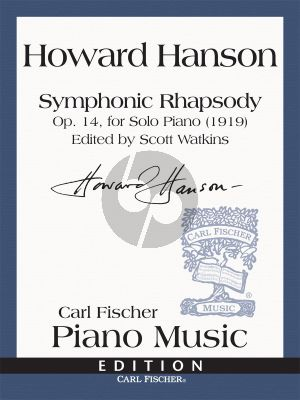 Symphonic Rhapsody Op.14 , for Solo Piano