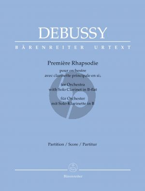 Debussy Première Rhapsodie Clarinet (Bb)-Orchestra Full Score (edited by Douglas Woodfull-Harris) (Barenreiter-Urtext)