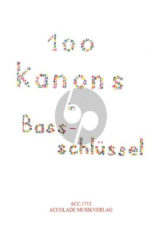 100 Kanons im Bassschlüssel zu 2 - 6 Stimmen 2 Fagotte