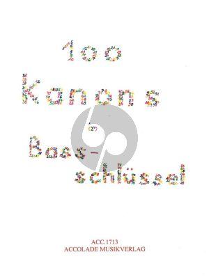 Album 100 Kanons im Bassschlüssel zu 2 - 6 Stimmen 2 Fagotte oder 2 Posaunen/Violoncelli (Nikolaus Maler)