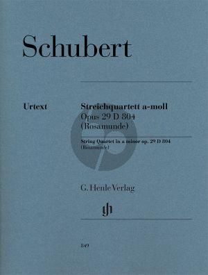 Schubert Streichquartett a-moll Op.29 D 804 (Rosamunde) 2 Vi.-Va.-Vc. Stimmen (ed. Egon Voss) (Henle-Urtext)