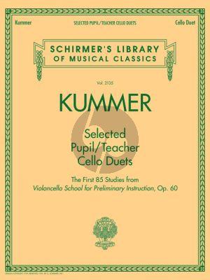 Selected Pupil/Teacher Cello Duets