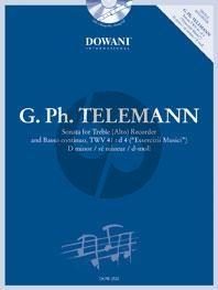 Telemann Sonata d-moll TWV 41: d4 Altblokfluit-Bc Boek-CD