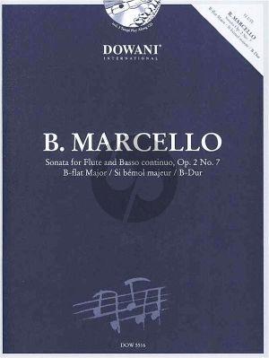 Marcello Sonata B-Dur Op.2 No.7 Flute-Bc (Bk-Cd) (ed. Winter Mechthild und Reimann Thomas) (Dowani)