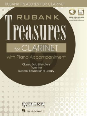 Rubank Treasures for Clarinet (Book with Audio online) (stream or download) (edited by Himmie Voxman)