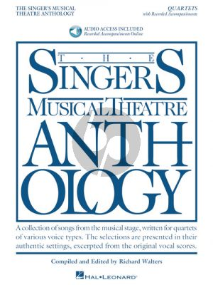 Singer's Musical Theatre Anthology – Quartets (Book with Audio online) (edited by Richard Walters)