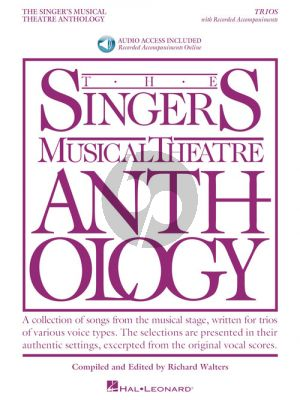 Singer's Musical Theatre Anthology Trios (Book with Audio online) (edited by Richard Walters)