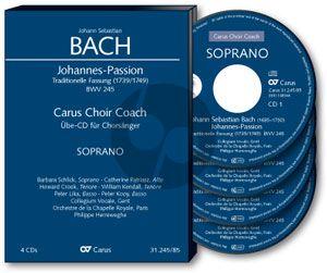 Johannes Passion BWV 245 Soli-Chor-Orchester Alt Chorstimme 4 CD's