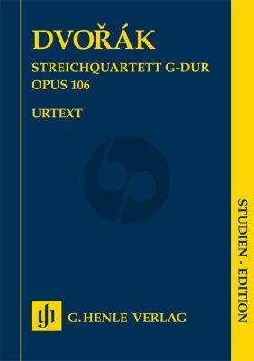 Dvorak Quartett G-dur Op.106 2 Vi.-Va.-Vc. Studienpartitur (Peter Jost) (Henle-Urtext)