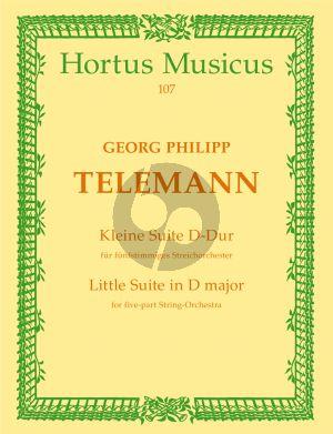 Telemann Kleine Suite D-dur 5 Streicher-BC Partitur (ed. Hilmar Höckner)