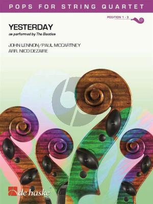 Lennon-McCartney Yesterday for String Quartet (Score/Parts) (arr. Nico Dezaire)