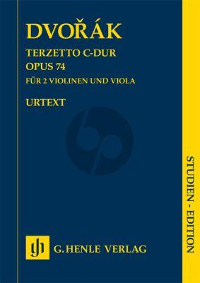 Dvorak Terzetto C-dur Op. 4 2 Violinen und Viola Studienpartitur (Annette Oppermann) (Henle-Urtext)