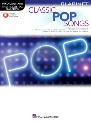 Classic Pop Songs for Clarinet (Book with Audio online)