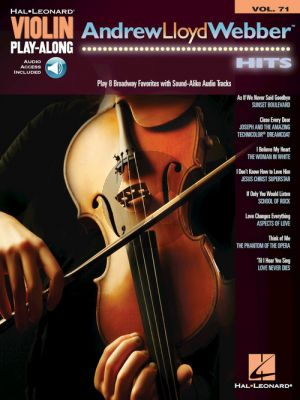 Andrew Lloyd Webber Hits Violin Play-Along Volume 71 (Book with Audio online)