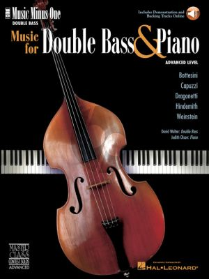 Music for double bass and piano (Book with Audio online) (Music Minus One) (David Walter) (advanced level)