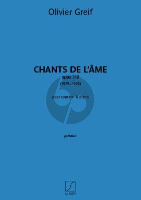 Greif Chants de l'âme Op. 310 Soprano-Piano