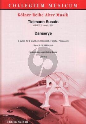 Susato Danserye – 6 Suiten Vol.2 (No.4-6) 2 Gamben (Violoncelli/Fagotte/Posaunen) Dietmar Berger)