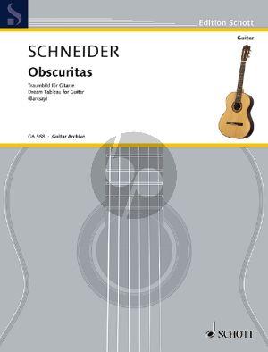 Schneider Obscuritas (Traumbild) Gitarre (Stefan Barcsay)