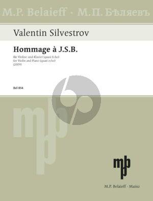 Silvestrov Hommage à J.S.B. Violin and Piano (quasi echo)