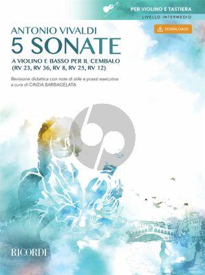 Vivaldi 5 Sonate a violino e basso per il cembalo