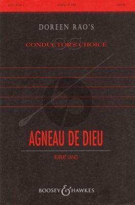Lang Agneau de Dieu (Lamb of God) (Tenor, SATB  (or semi-chorus) and Mixed Choir (SSATTBB)