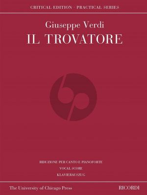 Verdi Il Trovatore Vocal Score (edited by David Lawton) (Critical Edition)