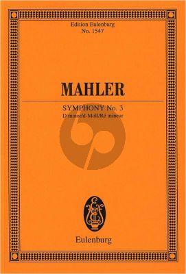 Mahler Symphony No.3 d-minor Study Score