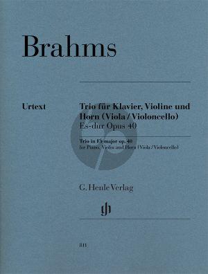 Brahms Trio Es-dur Op.40 Horn[Es][Viola/Violoncello]-Violine-Klavier (Part./Stimmen) (Katharina Loose-Einfalt) (Henle-Urtext)